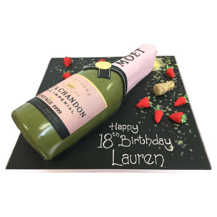 Champagne Bottle with Strawberries (feeds 20)
