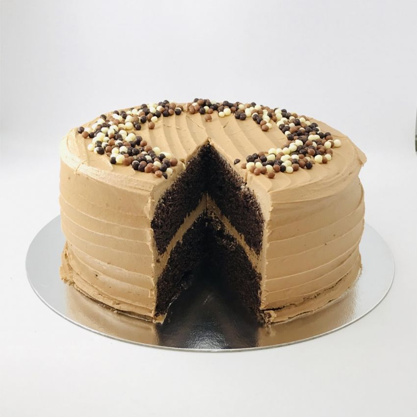 Chocolate Sponge Cake (10 Large Slices)