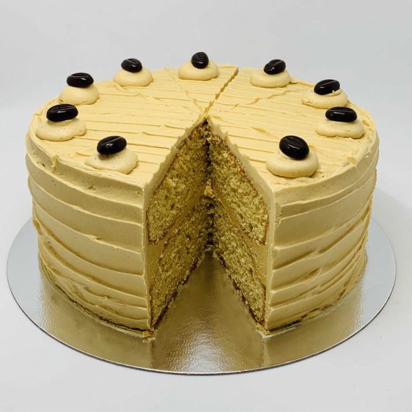 Coffee Sponge Cake (10 Large Slices)
