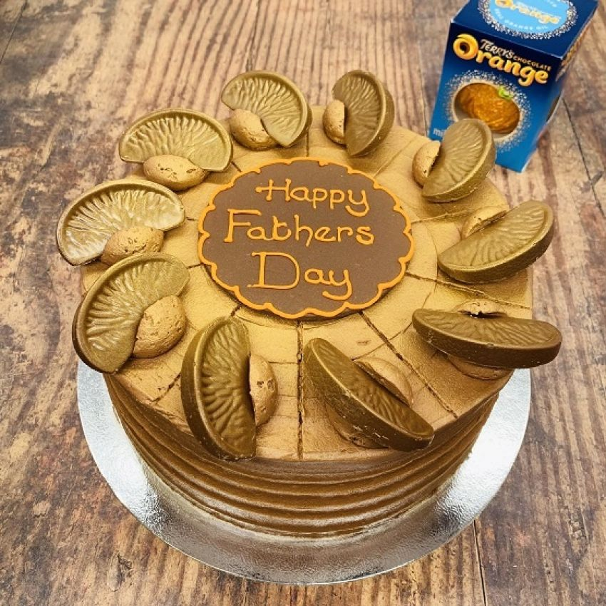 Add a Father's Day Plaque to your Cutting Cake