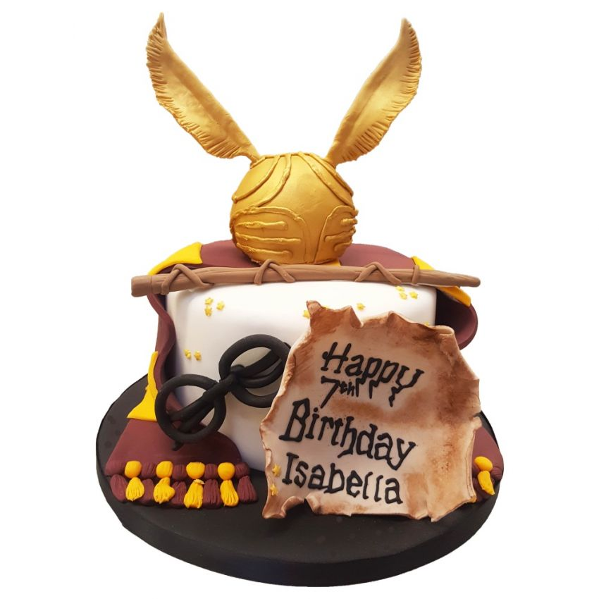 Harry Potter Golden Snitch Cake (Feeds 25)
