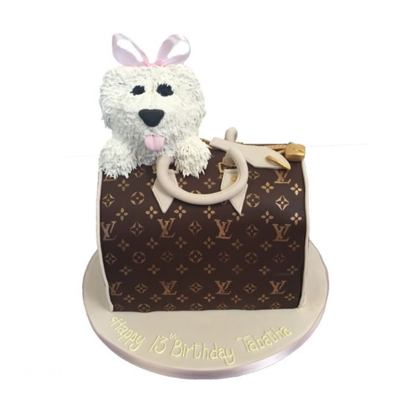 Louis Vuitton Bag with Westie (feeds 30)