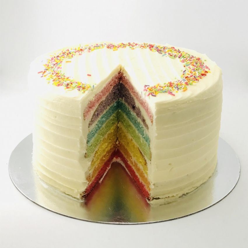 Rainbow Layer Cake (10 Large Slices)