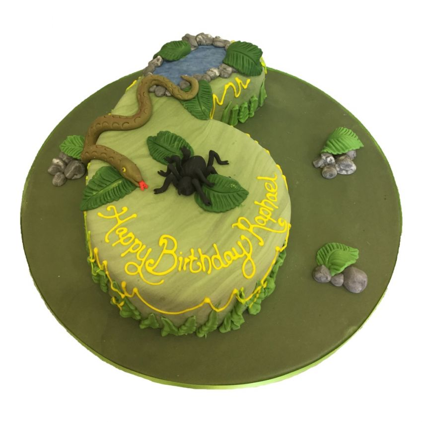 Creepy Crawlie Number Cake (feeds 25)