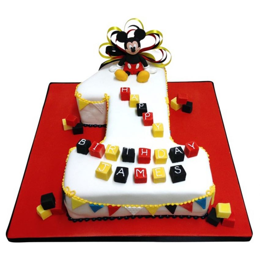 Mickey Mouse Number Cake (feeds 25)