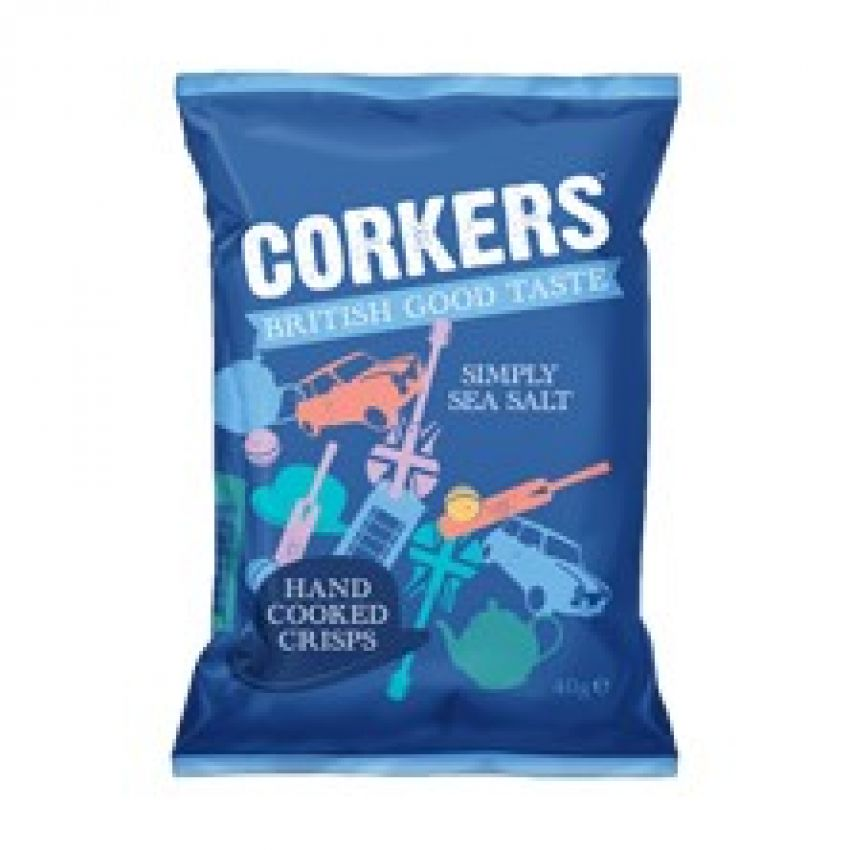 Corkers Sea Salt Crisps 40g