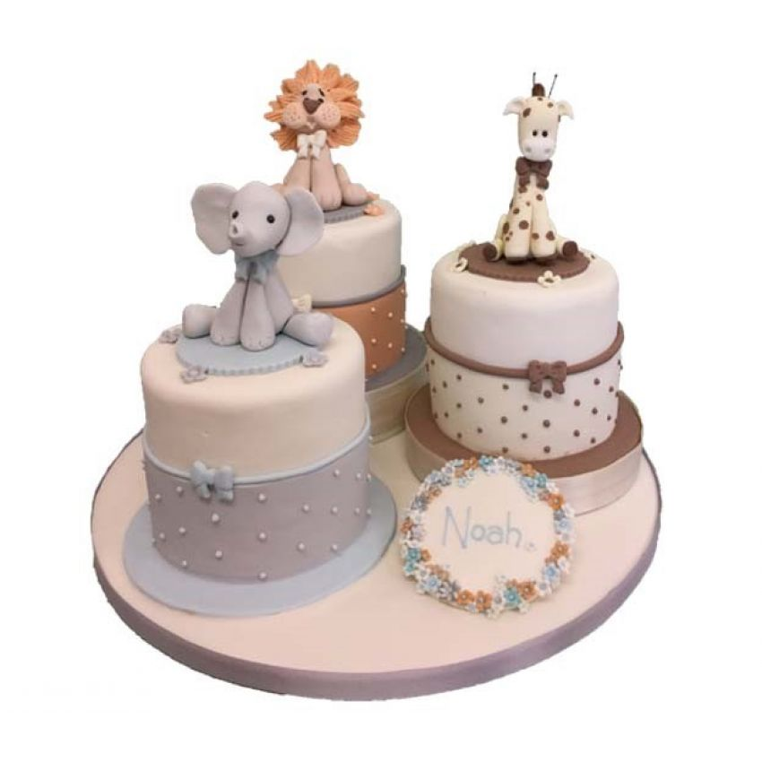 Christening Mini Trio Cakes (feeds 30)