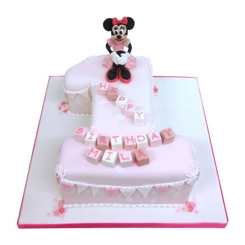 Minnie Mouse Number Cake (feeds 25)