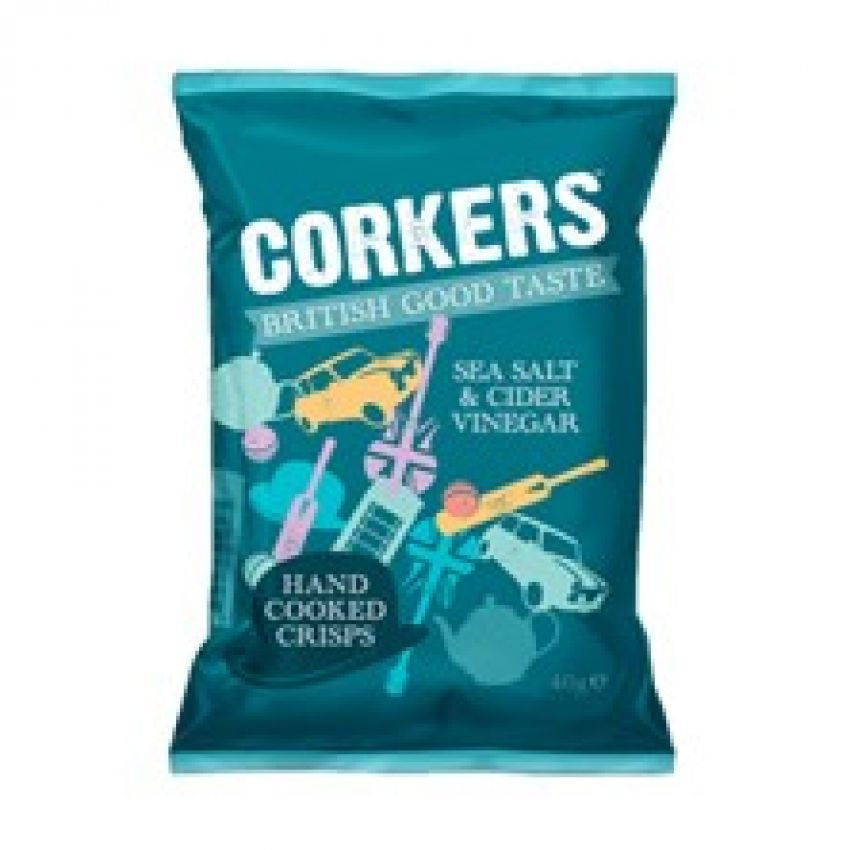 Corkers Sea Salt & Cider Vinegar Crisps 40g