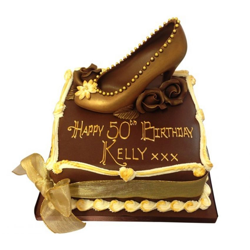 Gold Chocolate Shoe (feeds 20)